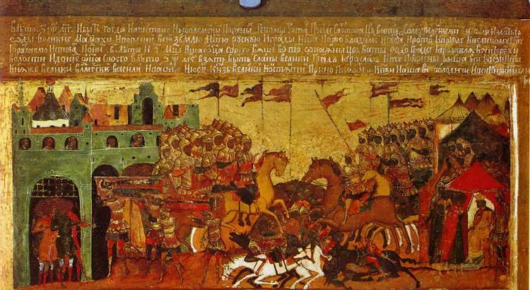 Битва с татарами на Туговой горе и взятие Ярославля в 1238 году. Вынос тел погибших князей