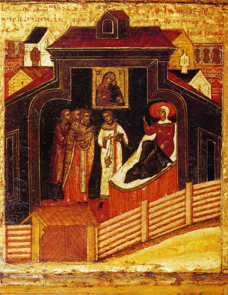 Молебен Толгской иконе Богоматери в доме московской жены Иулиании