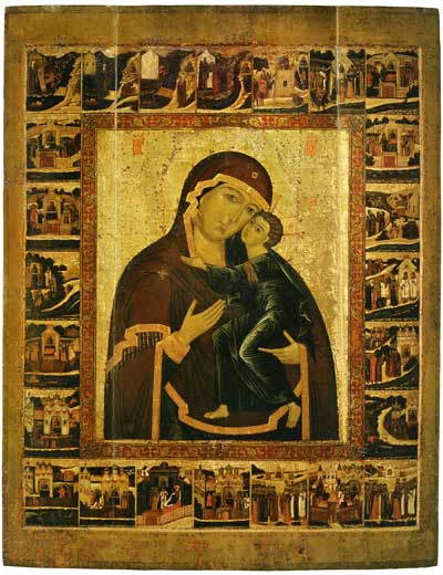 The Virgin of the Tolga with Border Scenes