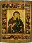 The Virgin of the Tolga with Border Scenes