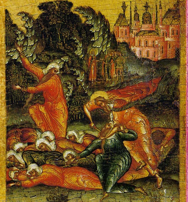 Илия убивает жрецов Ваала