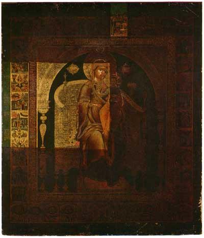 Богоматерь с Младенцем на престоле в клеймах Акафиста