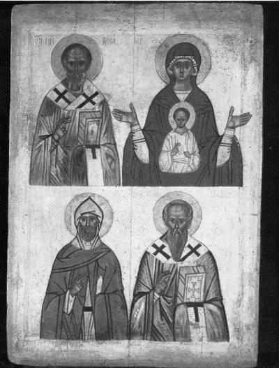 Никола, Богоматерь Знамение, Симеон Столпник, Иоанн Милостивый