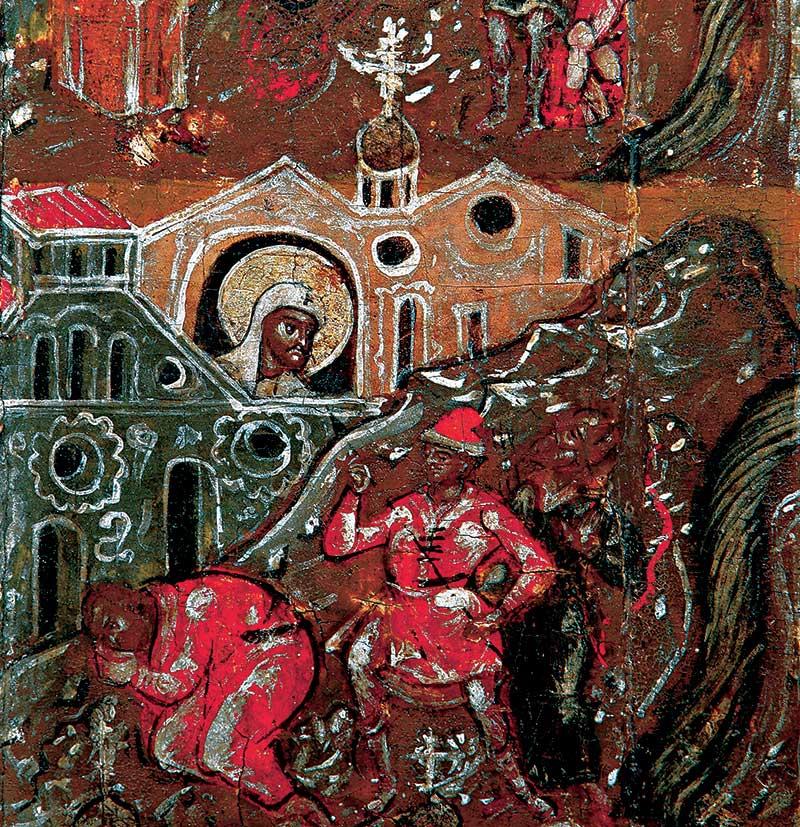 Язычники-ростовчане идут убивать св. Леонтия