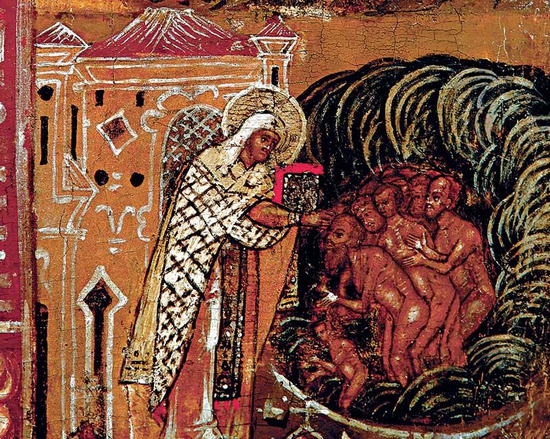 Крещение св. Леонтием народа Ростовского