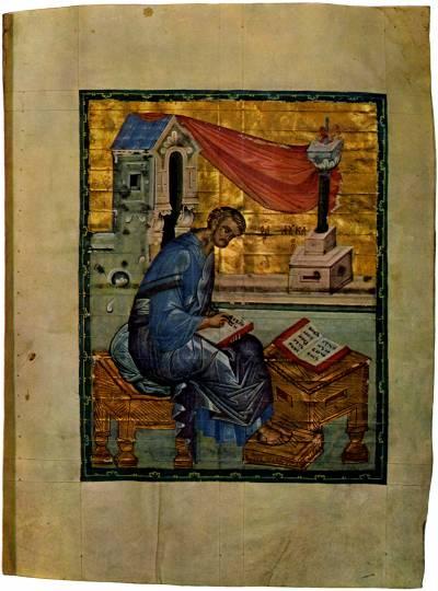 Evangelist Lukas - Das Evangelium von Khitrovo [ф. 304, III, № 3 / М.8657 (Троиц.III.3)],