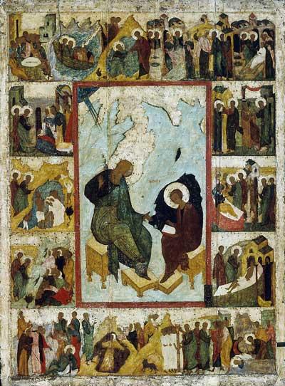 Иоанн Богослов на острове Патмос, с житием