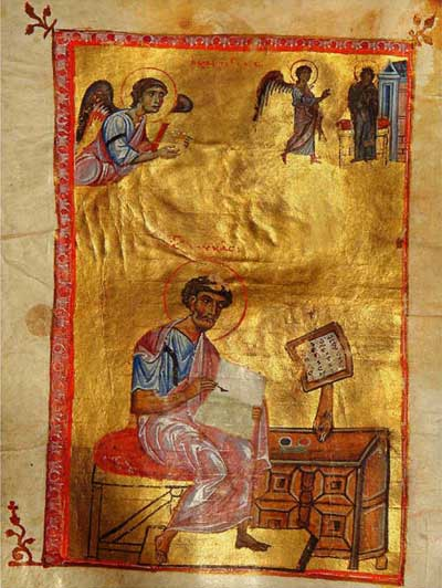 The Annunciation. St Luke the Evangelist -  [Син.греч.519 (Влад.14)],