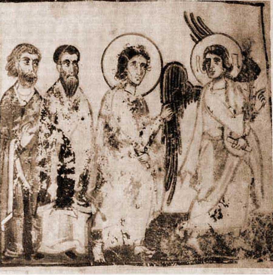 Архангел Михаил выводит Моисея в землю обетованную