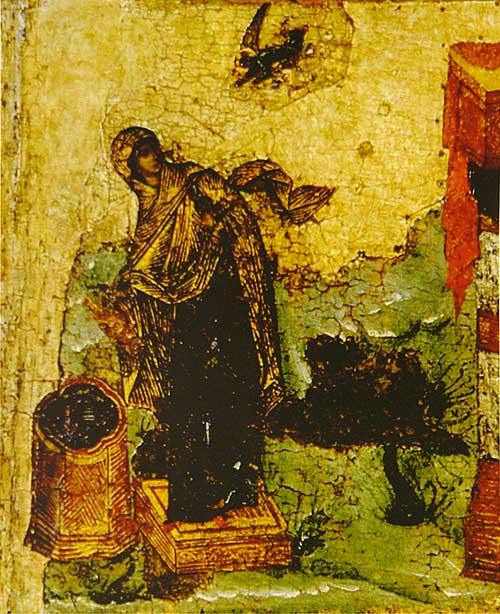 Икос I: «Ангел предстатель с небесе послан бысть...»