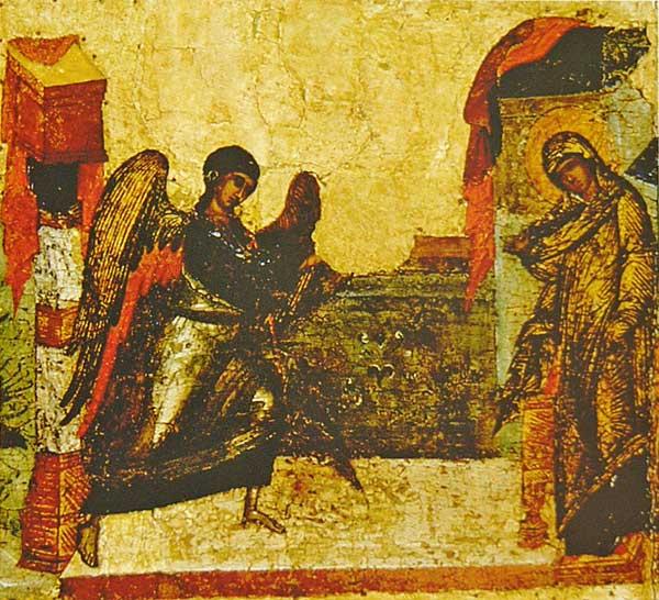Кондак II: «Видящи Святая Себе в чистоте, глаголет Гавриилу дерзостно...»