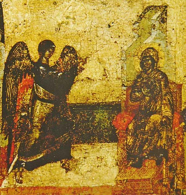 Кондак III: «Сила Вышняго осени тогда к зачатию браконеискусную...»
