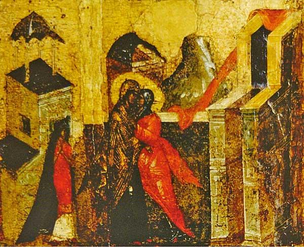 Икос III: «Имущи Богоприятную Дева утробу, востече ко Елисавети...»