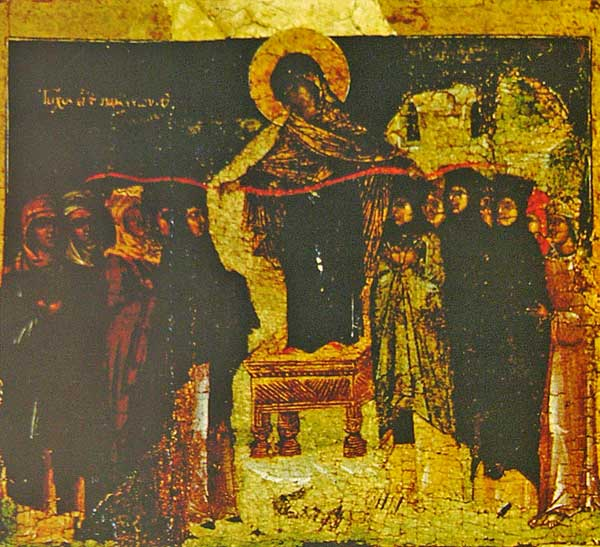 Икос X: «Стена еси девам, Богородице Дево, и всем к Тебе прибегающим...»