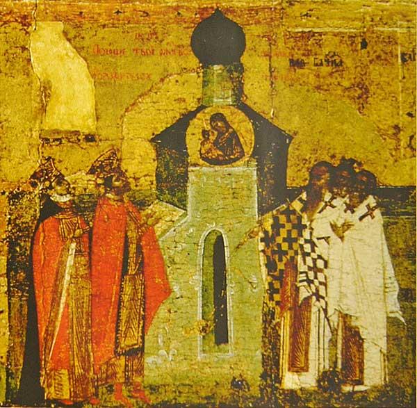 Икос XII: «Поюще Твое Рождество, хвалим Тя вси, яко одушевленный храм, Богородице...»