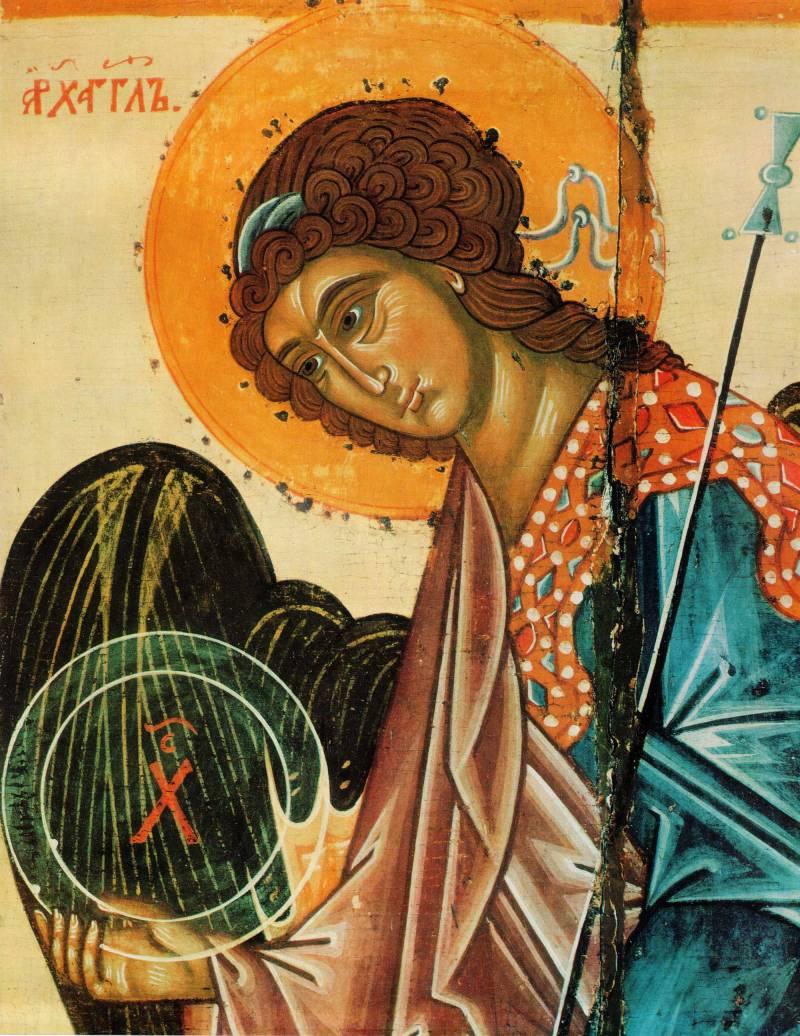 Полуфигура архангела Гавриила