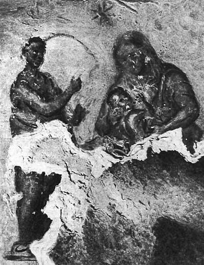 Пророк пред Божией Матерью с Младенцем