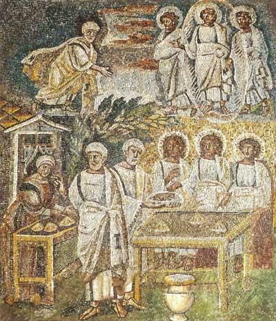 Явление Аврааму трех ангелов и Гостеприимство Авраама