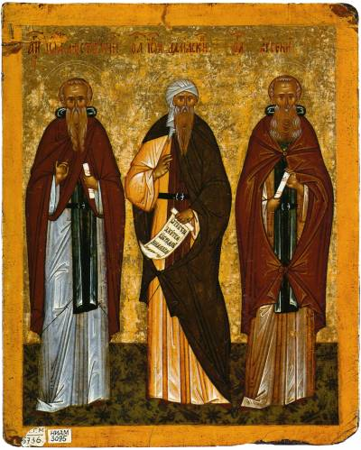 SS John Climacus, John of Damascus, Arsenius the Great