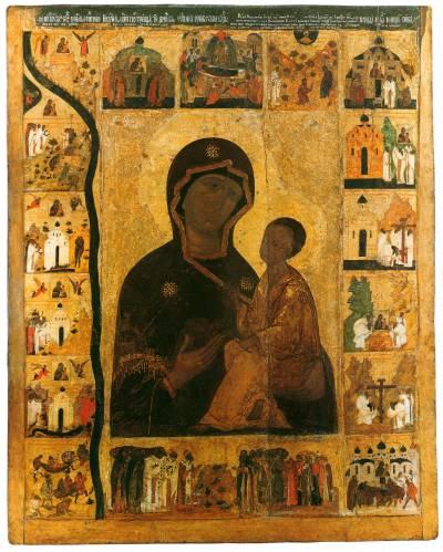 The Virgin of Tikhvin with Border Scenes