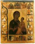 Богоматерь Тихвинская, с клеймами