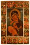 Богоматерь Владимирская с праздниками в 18 клеймах