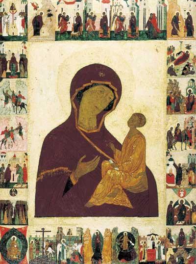 Богоматерь Тихвинская с Акафистом