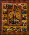 Святая Мария Египетская с житием в 16 клеймах
