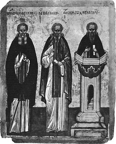 Арсений Великий, Пахомий Великий, Симеон столпник Дивногорец