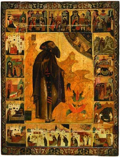 Варлаам Хутынский с житием в 18 клеймах