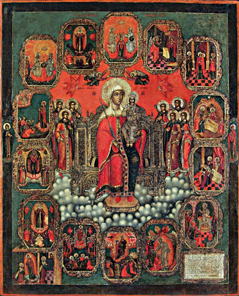 Богоматерь на престоле с клеймами