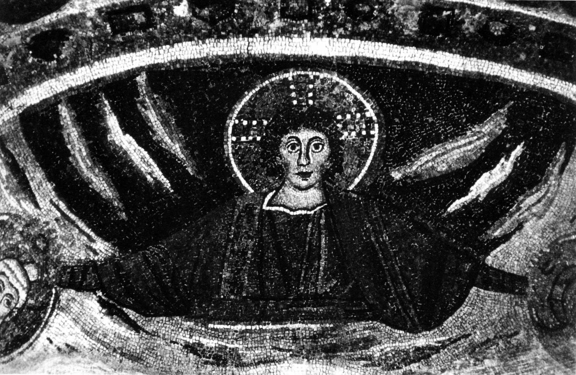 Христос, венчающий епископов Урса и Севера