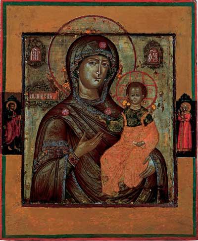 Богоматерь Одигитрия с апостолом Лукой и мученицей Дарией