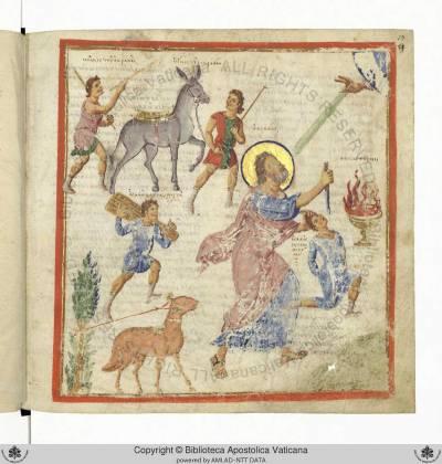 Жертвоприношение Авраама - Христианская топография Косьмы Индикоплова [gr.699], л. 59