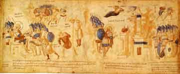Казнь царя Гая. Жертвоприношение на горе Гевал. Гаваонские послы, идущие в израильский стан