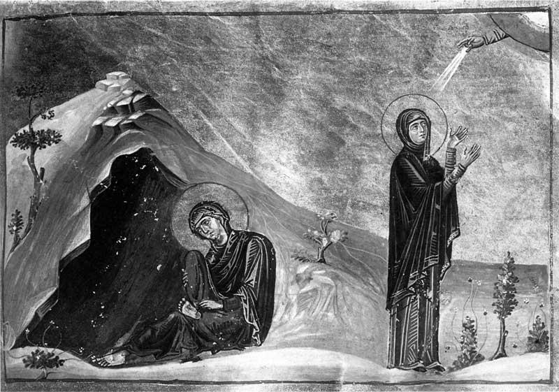 Святые Зинаида и Филонилла - Менологий Василия II (Ватиканский менологий) [Vat.gr.1613], с. 106