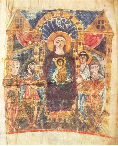 Поклонение волхвов - Эчмиадзинское Евангелие [MS2374],