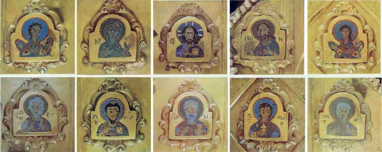 Дробницы с изображением Деисуса и святых