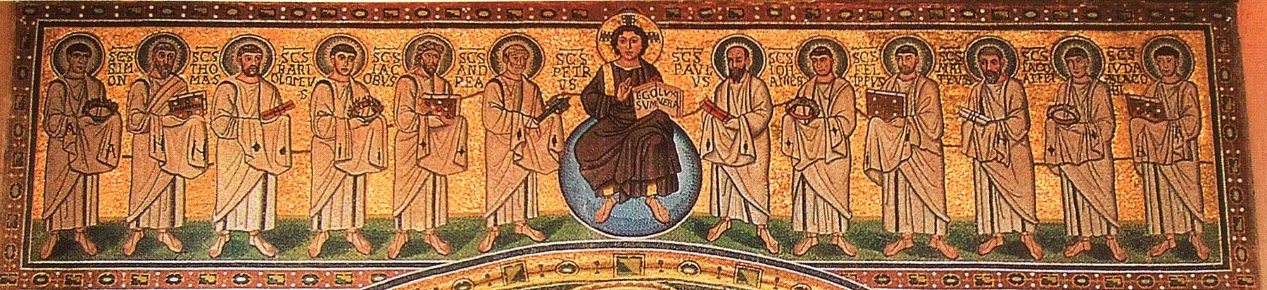 Спас и двенадцать апостолов