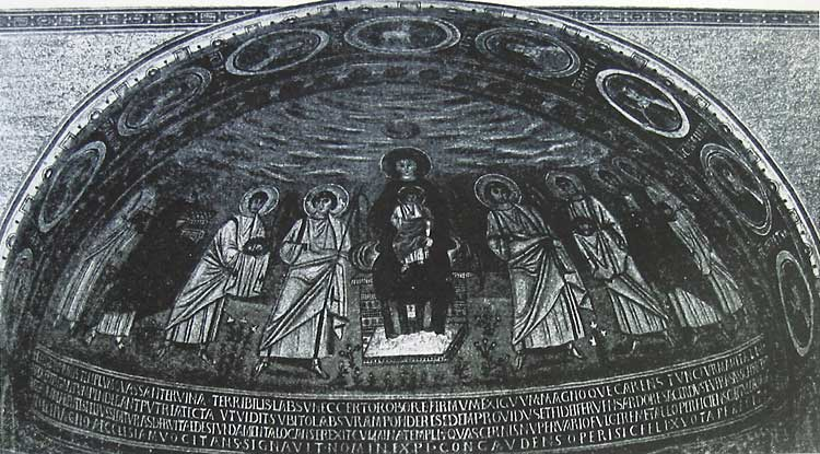 Богоматерь с Младенцем, ангелами, святыми и предстоящими