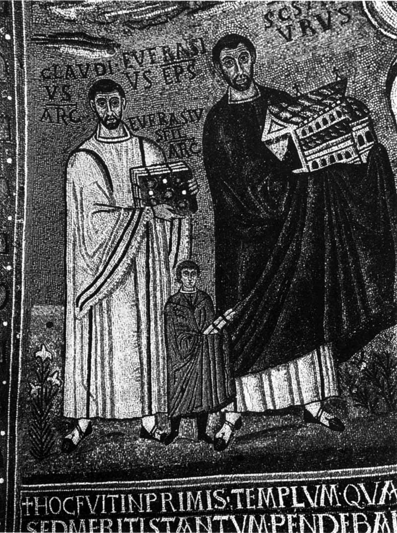 Епископ Евфрасий и архидиакон Клавдий с сыном