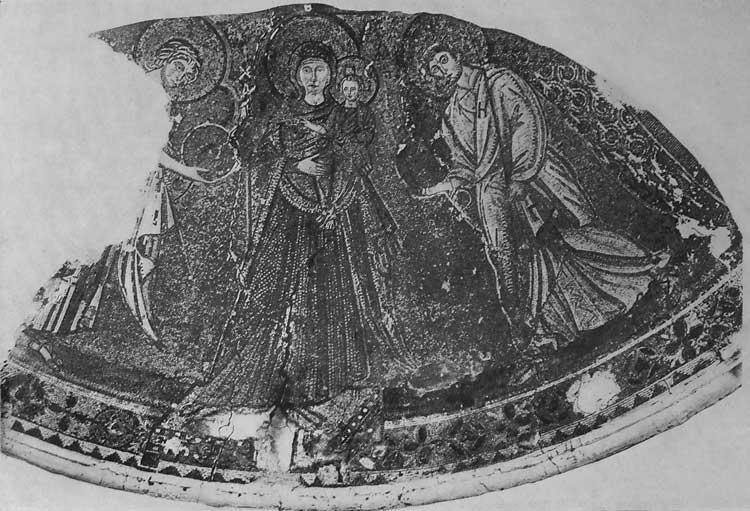 Богоматерь с Младенцем и архангелами Михаилом и Гавриилом