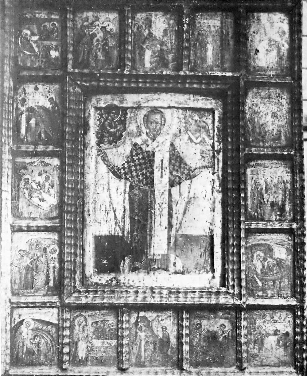 Никола Зарайский со сценами жития на раме