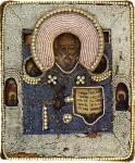 Николай Чудотворец, со святыми на полях