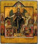 Иоанн Предтеча Ангел пустыни, со святыми на полях