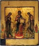 Деисус, с двумя святыми на полях