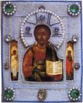 Спас Вседержитель, со святыми на полях