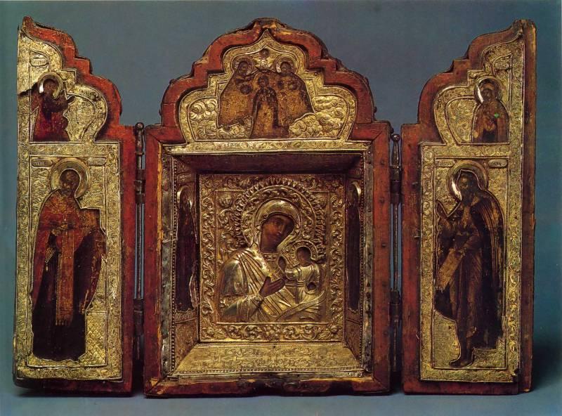 Богоматерь с Младенцем и двумя святыми. Святитель Николай. Пророк Илия. Благовещение. Коронование Марии