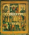 Воскресение Христово с избранными святыми