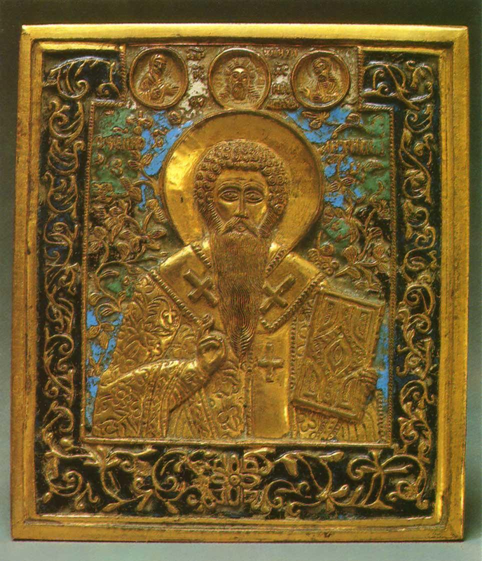 Святитель Антипа Пергамский с Деисусом